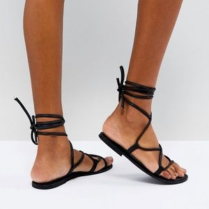 Urban Outfitters Leather Tie Sandals 